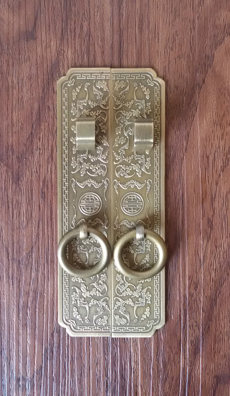 Chinese antique furniture accessories top cabinet wardrobe door handle copper handle / Bat straight handle смеситель для кухни omoikiri nagano be 4994044