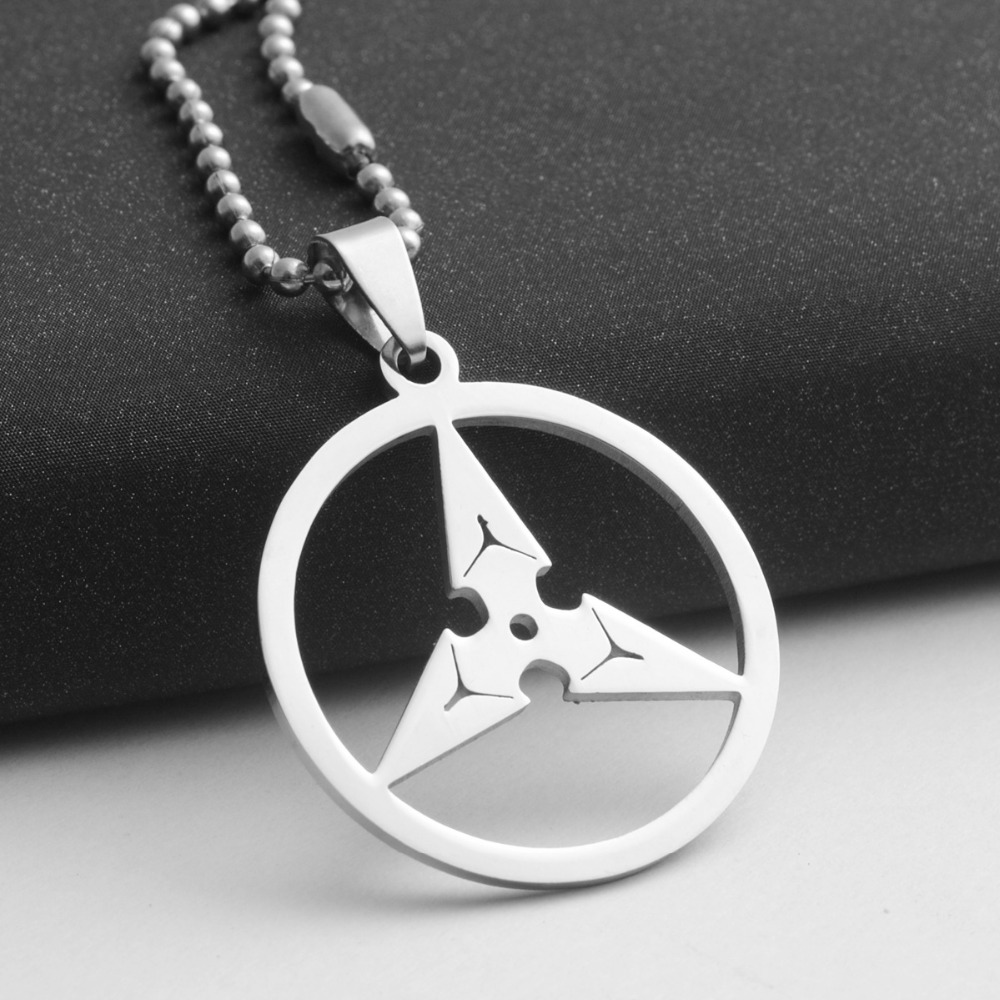 stainless steel triangle darts pendant necklace geometric round triangle arrow necklace game watch pioneer darts necklace jewelry