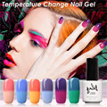 6PCS Cold Temperature Changing Nail Gel Polish Color UV Gel Nice Nail Art Salon Gel Varnish Long Lasting Led Gel Polish Nail