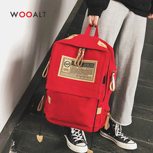 2019 Casual Canvas School Bags for Teenager Girls Boys Fashion England Style Travel Backpack Women Laptop Bag Mochila Rucksack