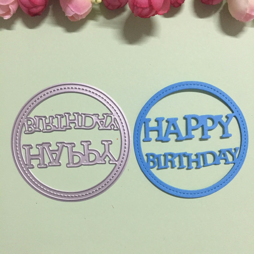 letter design happy birthday metal cutting dies stencils for diy scrapbookingphoto