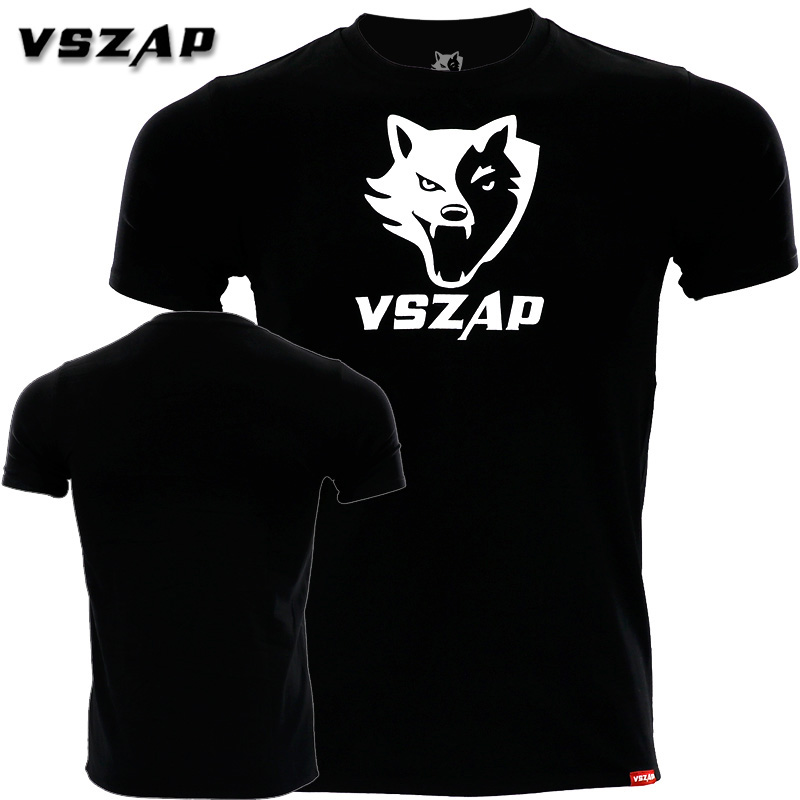 VSZAP Classic Fight MUAY THAI MUAY THAI Combat Short Sleeve T-shirt JIU JITSU Fitness Training Clothes MMA Boxing Shirts