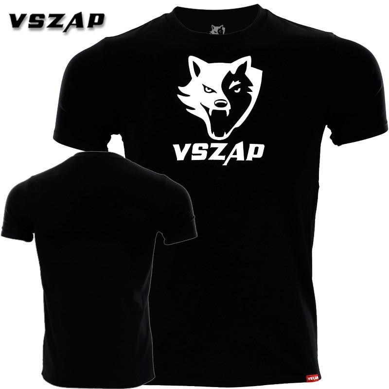 VSZAP Classic Fight MUAY THAI MUAY THAI Combat Short Sleeve T-shirt JIU JITSU Fitness Training Clothes MMA Boxing Shirts