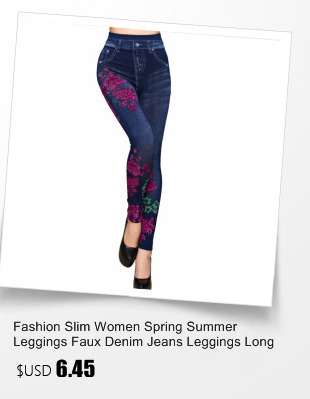 db7df512bb361 Fashion Slim Women Spring Summer Leggings Faux Denim Jeans Leggings ...