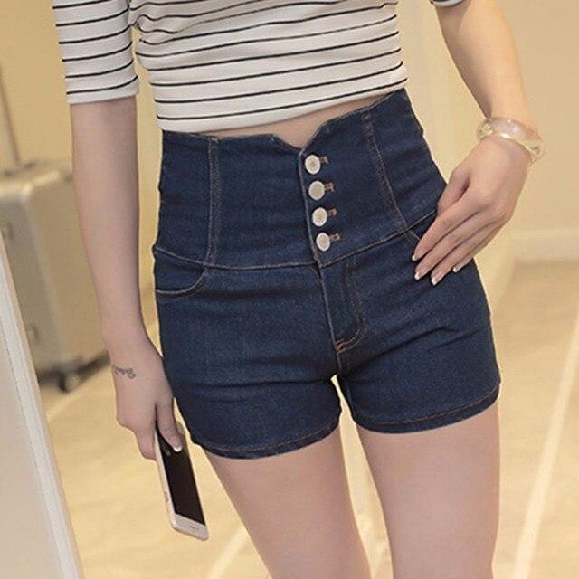 Hollow Out Black Skinny High Waist Shorts 2017 Summer New Women White Slim Sexy Denim Shorts Black Short Jeans feminino 6