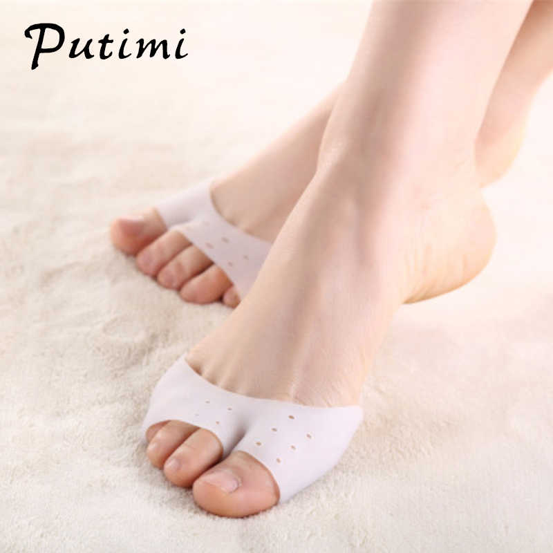 Putimi Forefoot Pads Socks Anti-slip Breathable Toe Socks Sleeve Hallux Valgus Correction Bunion Toe Separator Foot Care Tool