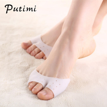 Putimi Forefoot Pads Socks Anti-slip Breathable Toe Socks Sleeve Hallux Valgus Correction Bunion Toe Separator Foot Care Tool