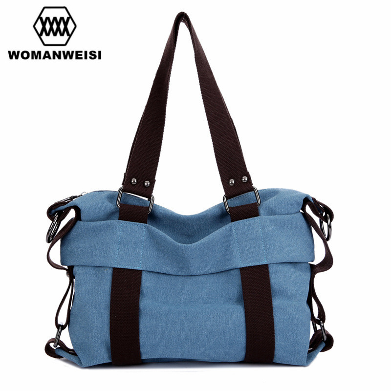 WOMANWEISI Brand 2017 Women Shoulder Bag High Quality Canvas Vintage Women Messenger Crossbody Bags Female Travel Bag Kabelky