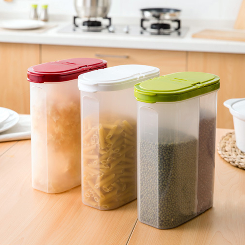 Kitchen Cereal & Dry Food Storage Container - Airtight Lid - Suitable For Cereal, Flour, Sugar, Coffee, Rice, Snacks, Pet Foo