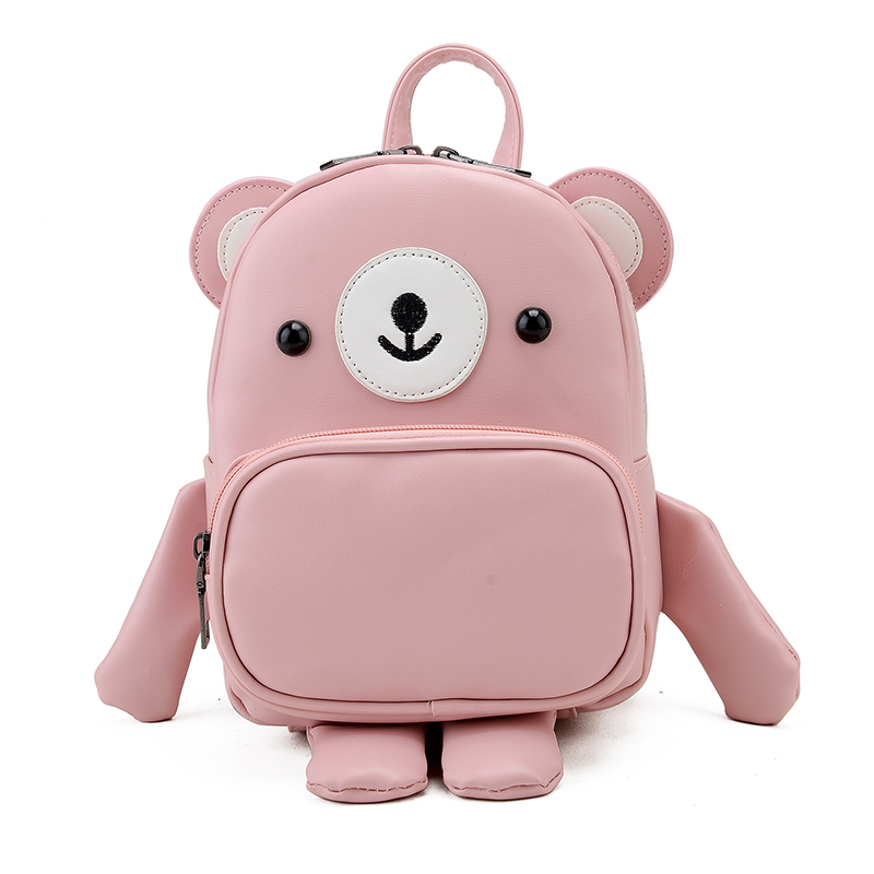 2017 new bear shoulder bag personality cute cartoon mini School Backpack fashion multi-purpose small Leather women backpack Y356 hot fashion design personality little bear women backpacks cute character shapes cartoon girls schoolbag casual shoulder bag