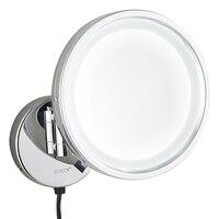 Гурун ванная комната, зеркало с подсветкой для макияжа со светодиодными огнями и увеличительное стену косметический поворотный складывающ