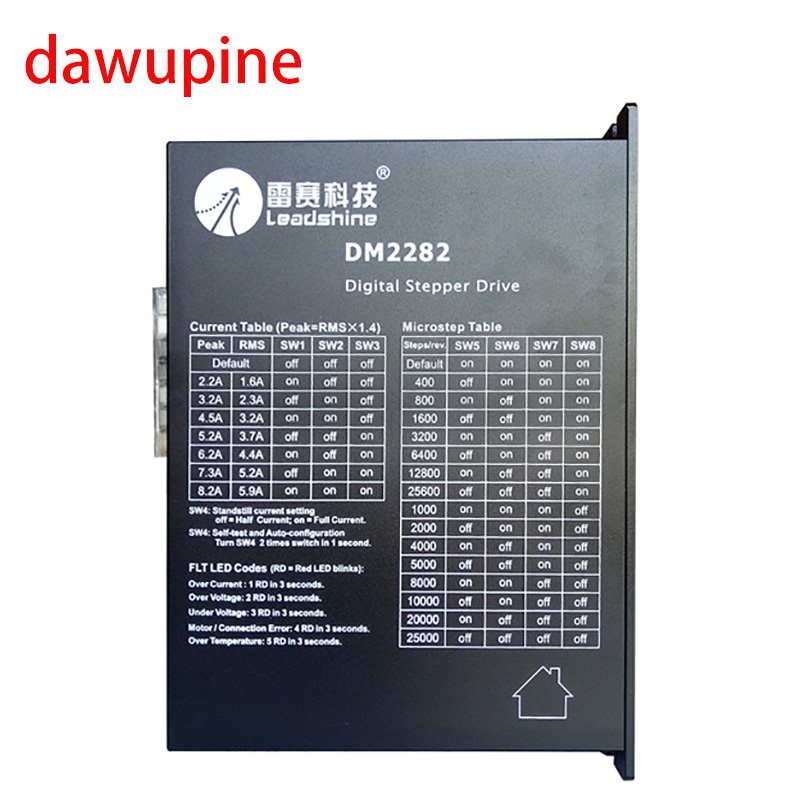 dawupine Stepper Motor Controller Leadshine DM2282 2-phase Digital Stepper Motor Driver 180-240Vac 8.2A NEMA 34 42 leadshine stepper motor driver 3dm 683 3 phase digital stepper drive max 60vac 8 3a