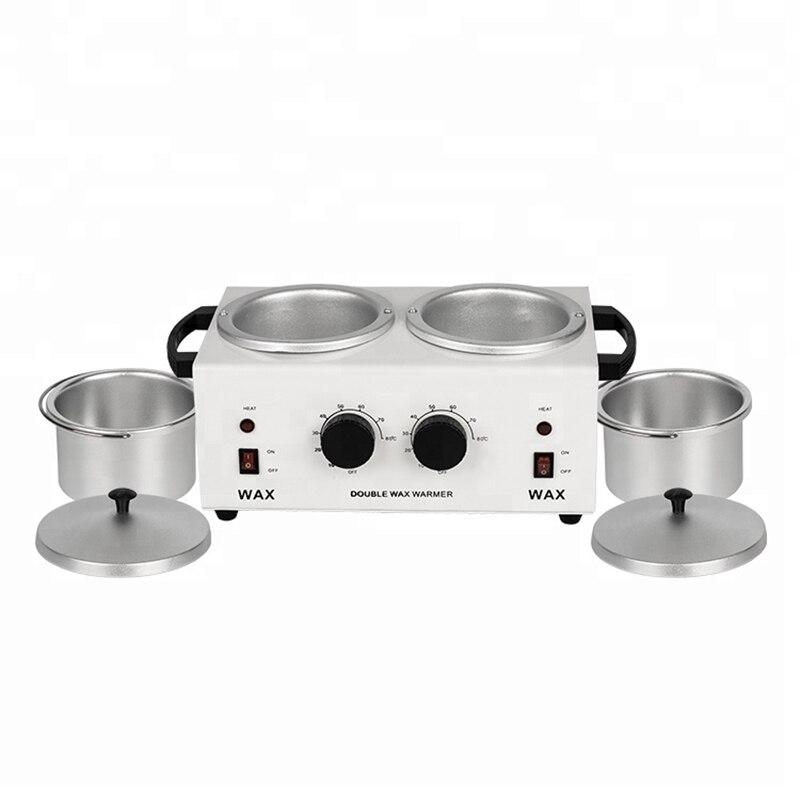 MEIERLI Double Pots dépilatoire chauffe-cire Machine Paraffine chauffe-cire pour main et pieds SPA épilateur outil d'épilation