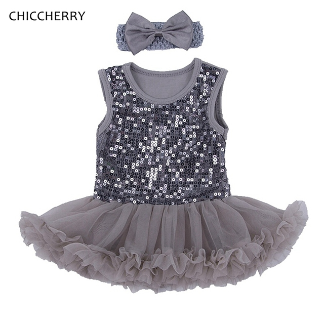 Sequins Baby Girl Clothes Sleeveless Newborn Lace Tutus Vintage Party Romper Dress Robe Bebe Fille Kids Outfits Infant-clothing