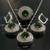 Decorações Do Casamento De noiva Conjuntos de Jóias de Prata Zircão Vermelho Brincos Colar Set 2016 Parure Bijoux Femme Nigeriane Cristal Ys002