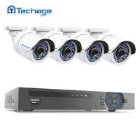 Techage 4CH 960P POE NVR Kit 4pcs 1 3MP PoE IP Camera P2P Cloud CCTV System