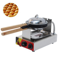 Free Shipping To Russia 220V Stainless Steel Egg Waffle Machine Electric Eggettes Eggettes EU Plug