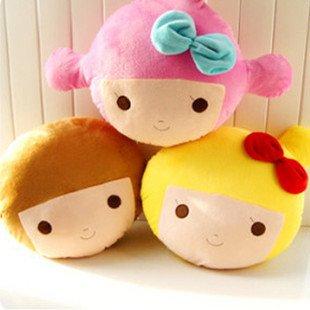 Wholesale Plush Toys Gift Cute Girl Car Chair Seat Cushion Pillow Soft Warm Cute 38*24CM 3PCS/LOT FREE SHIPPING
