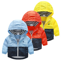 2015 Big Brand Boys Jacket With Hooded Spring Boys Outerwear Coat Good Boys Spring Jacket Free