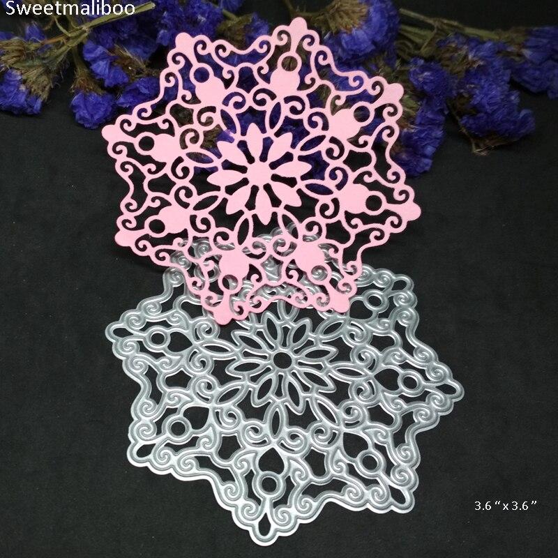 Hot Sale Cutting Dies Christmas Snowflake Flower Stencils Metal Dies ...