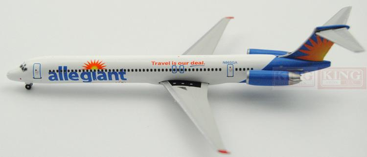 GJAAY1457 GeminiJets United States loyal aviation N865GA 1:400 MD-83 commercial jetliners plane model hobby