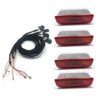 4PCS OEM Origin Door Warning Light Interior LAMP LIGHTS Cable WIRE For VW Golf Jetta MK5
