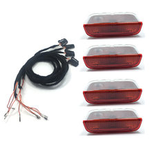 4PCS OEM Origin Door Warning Light interior LAMP LIGHTS+Cable WIRE For VW Golf Jetta  MK5 MK6 Passat B6 B7 CC TIGUAN 3AD 947 411 qty 2 vw oem engine start switch esp ebp auto hold buttons for vw european version passat b7 cc 3ad 927 137 a whs 3ad927137