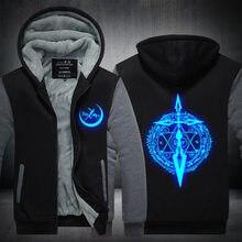 Fate grand order luminous hoodie anime fgo alter 코트 자켓 겨울 남성 두꺼운 지퍼 복수 자 운동복