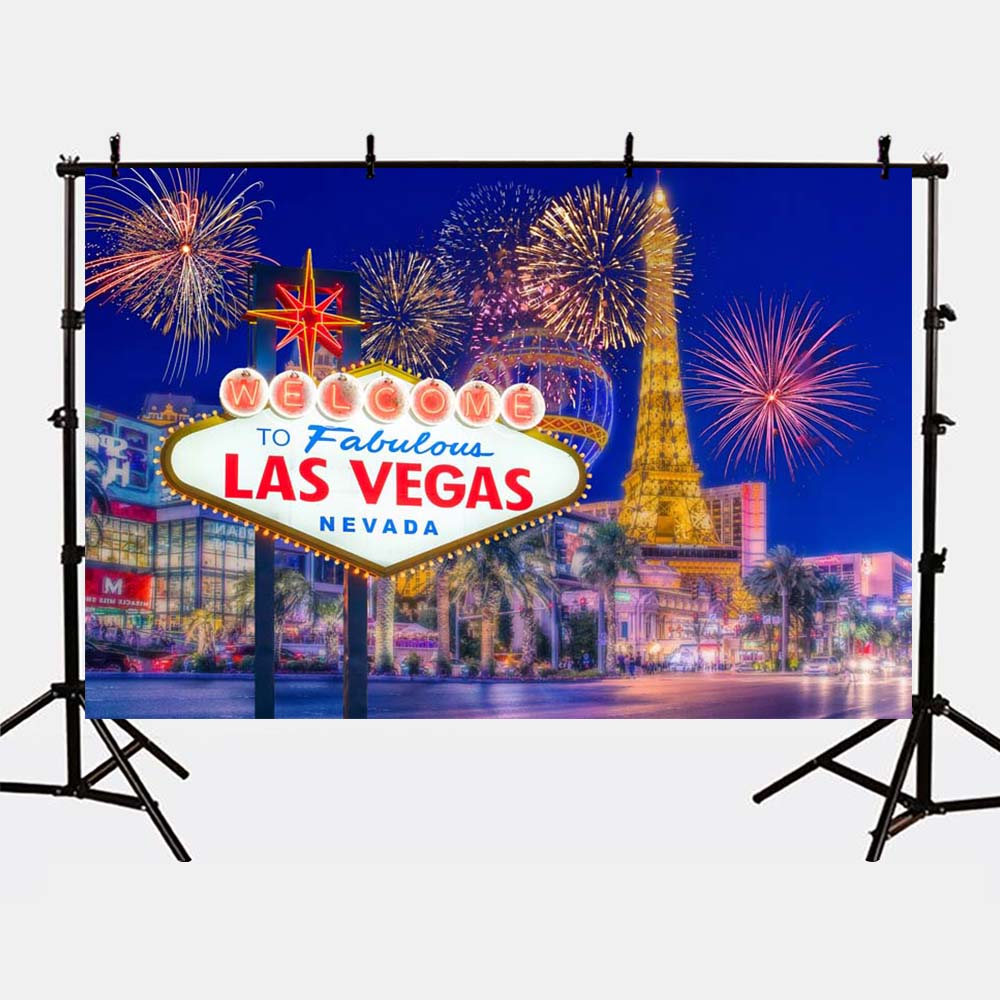 Mehofoto Photography Backgrounds Las Vegas Photo Backdrops Shoot Night Cirty Props for Family Photographer G-164