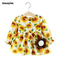 Cute Baby Girls Dresses Flowers Leaf Print Design Children Clothing Spring Autumn Fashion Dress For Princess