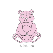 Teddy Bear Metal Cutting Dies for DIY Scrapbooking Embossing Paper Cards Making Crafts Supplies 2019 New Dies teddy bear and plush rabbit metal cutting dies for diy scrapbooking embossing paper cards making crafts templates new dies 2019