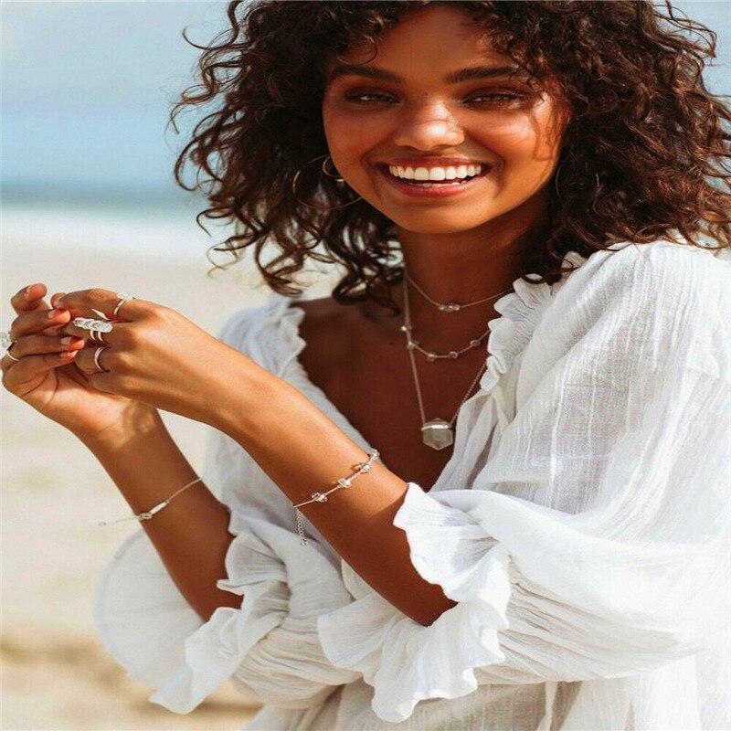 Sexk Women Summer Shirt Blouse Flounce Flared Sleeve Loose Beach Smock Tops HOT