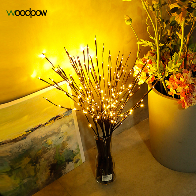 Woodpow Creative Tree Branch Vase Led Lamp 20ledspcs Branch Table