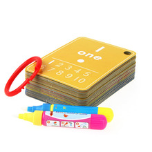 Drawing Toys Water Drawing Learning Card Magic Pen Cool Painting Card Number Board Coloring Book Educational kid Early Recognize