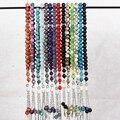 Venta caliente soporte de exhibición del collar Del Rosario 33 unids 10mm piedra natural cuentas de Oración Islam Musulmán larga cadena collar de Alta calidad collar