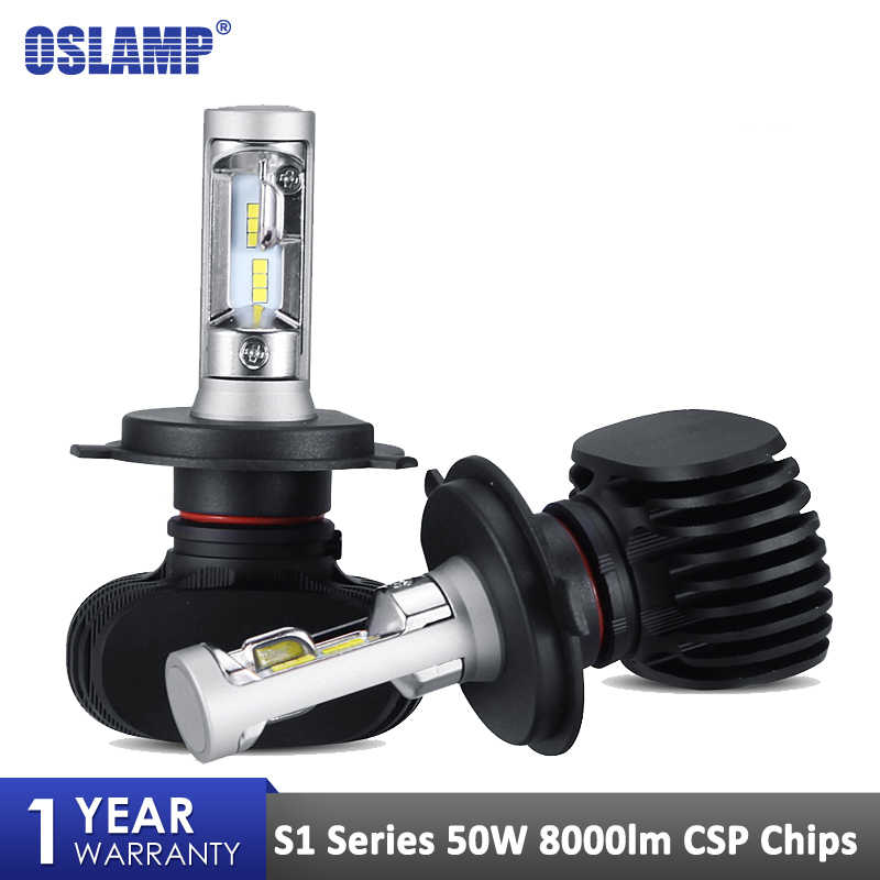 Oslamp S1 NF15 Led Headlight H4 H7 H11 H13 Auto Car Bulbs H1 H3 9005 9006 CSP Chips 50W 6500K Led Bulb for Nissan Toyota