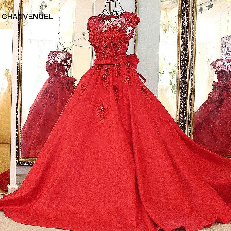 LS88515 vin rouge dos nu robes de soirée appliqué dentelle puffy princesse soirée robe élégante abendkleider lang