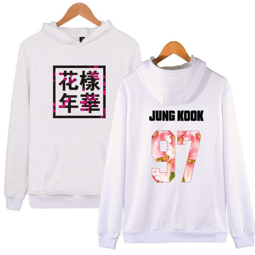 Korean Bangtan Boys Kpop BTS Women Hoodies Sweatshirts Letter Printed in jimin 95 and SUGA 93 women's tracksuits JUNG KOOK 97