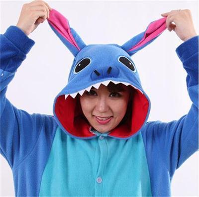 Cartoon Adult Unisex Anime mėlyna dygsnio pižamos Oniesie gyvūnų - Karnavaliniai kostiumai