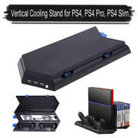 1PCS Multi Functional Cooling Stand W 2 Fans Two Controllers Charging Station For PS4 PS4 Pro