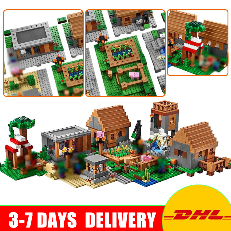LEPIN 18008 My World Series Village Model Building Blocks Bricks Model Toys for Children Gift Compatible 21128 In Stock lepin 18003 my world series the jungle tree house model building blocks set compatible original 21125 mini toys for children