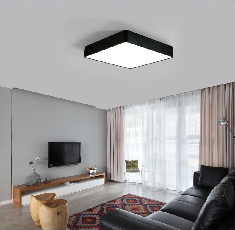 Modern office lighting LED ceiling lamps square bedroom living room lights combination black/white ceiling lights ZA BG22 black or white rectangle living room bedroom modern led ceiling lights white color square rings study room ceiling lamp fixtures