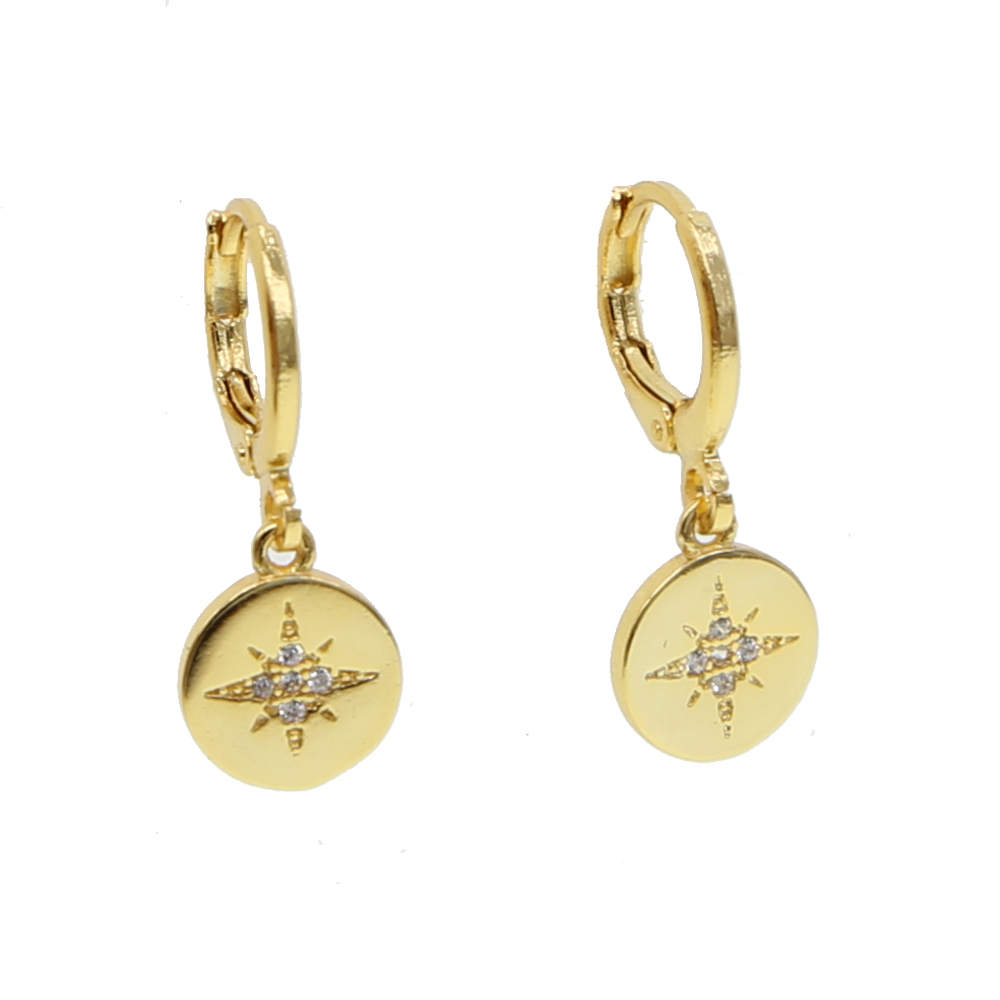 8ca4afabedbe 1 Pair Ladies Gold color Drop Earrings for Women Coins North star Charms  Dangle Earrings Fashion