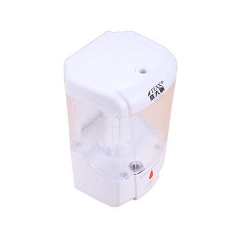ติดผนังพลาสติกสบู่ Dispenser สีม่วงอินฟราเรดอัตโนมัติเครื่องจ่ายสบู่อัตโนมัติ Hand Sanitizer Soap Dispenser