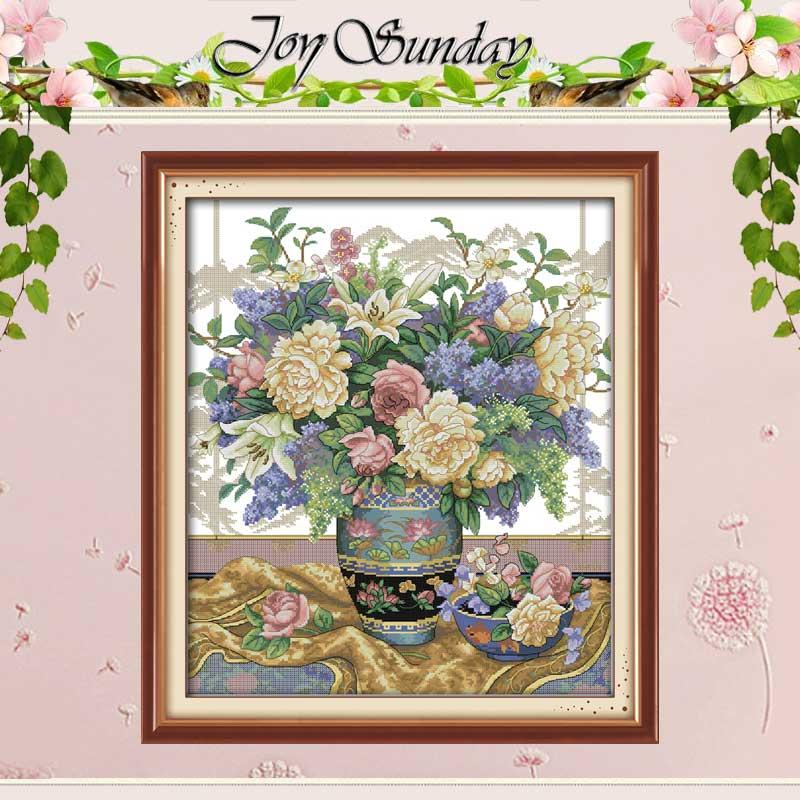 Freies Schiff Handmade Oriental Vase Malerei Gezählt Kreuz Stich 11CT 14CT blumen Kreuz Stich Sets Stickerei Kits Hand