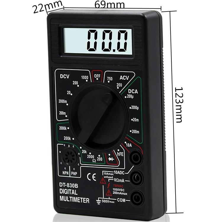 ЖК-цифровой мультиметр AC DC 750 1000 в цифровой мини-мультиметр зонд для Вольтметр Амперметр Ом тестер метр