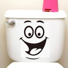 Big Mouth Smile Face Toilet Stickers Diy Removable Vinyl Wall Decals adesivos de paredes Fridge Washing Bathroom Home Decor