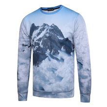 Здесь можно купить   Mr.1991INC Men Hoodies 3D Sweatshirts Snow Mountain Design Printed Long Sleeve O-Neck 96% Polyester 4% Spandex S to XL Men