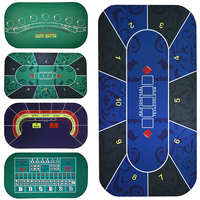 1.2*0.6M Texas Hold'em Poker Suede Rubber Table Cloth Table Top Digital printing Casino Pokerstars Board Game Poker Accessory