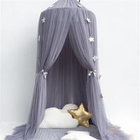 Three Door Baby Crib Netting Princess Dome Bed Canopy Childrens Bedding Round Lace Mosquito Net For Bed Room Decoration 240cm